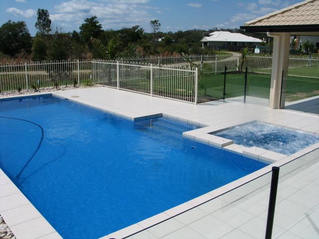 Formal Pool with Spa